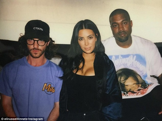 Team Pablo: The filmmaker, who is just 24, told the New York Times he and the rapper (seen here with Kim Kardashian and the director) worked closely on the clip and meretriciously agonized over every aspect of its aesthetic