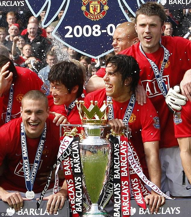 Park Ji Sung (centre left) spent seven trophy laden seasons at Manchester United (2005-12)