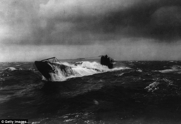 The U-boat would have looked similar to this one when it was sunk by the British in 1918