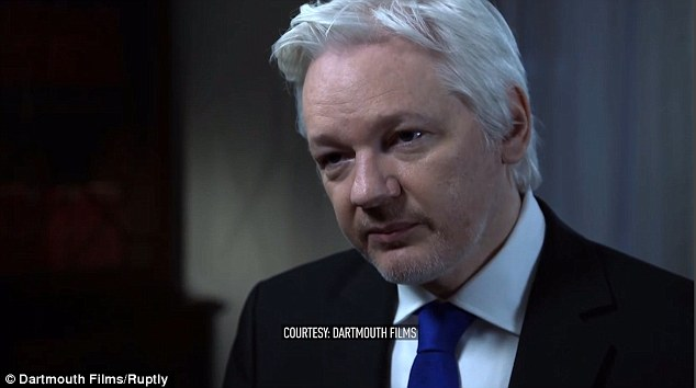 WikiLeaks founder Julian Assange, pictured, claims next week's presidential election is fixed