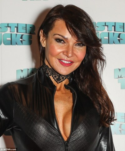 Lizzie Cundy dons leather catsuit as she attends Monster Trucks screening in London | Daily Mail ...