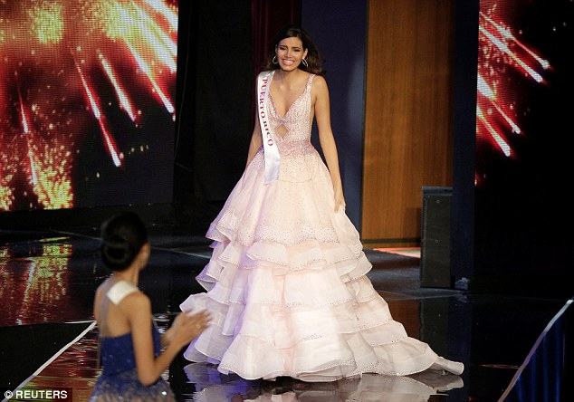 Multitalented:Miss Del Valle, 19, is a communications studies student who speaks Spanish, English and French, and hopes to get into the entertainment industry