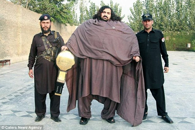 Gentle giant Arbab Khizer Hayat has already been nicknamed Pakistan's hulk man