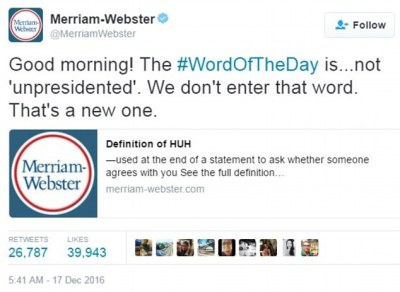 Merriam-Webster dictionary Twitter trolls President Trump | Daily Mail Online
