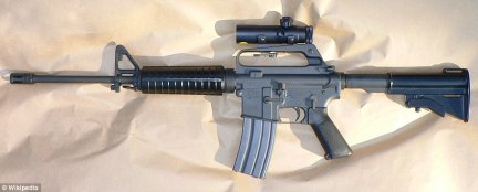 A Colt AR-15 was also found in the room. Such weapons  are semi-automatic when bought legally and cost around $1,000. At least one full-auto weapon was found, but it's not known if it was modified or had that function when manufactured