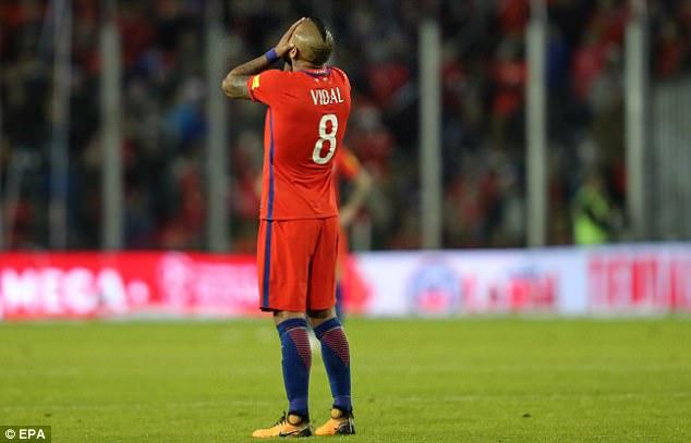 Arturo Vidal tem 30 anos e é improvável que apareça na Copa do Mundo 2022 no Catar