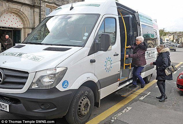 In 2011 the Upper Dales Community Partnership started its own bus service, pictured,  that rakes in a revenue of £60,000 a year from the fares of roughly 65,000 passengers
