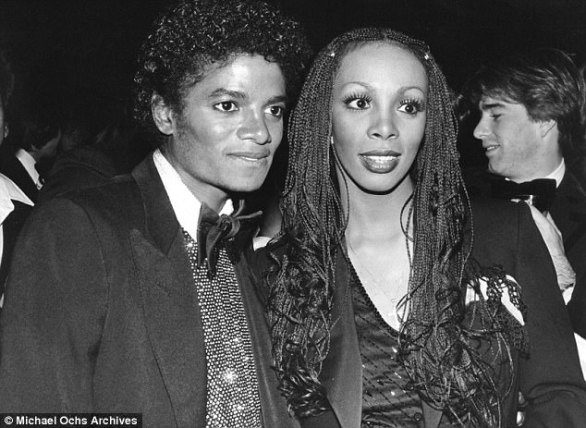 'The notes don't lie': Quincy suggested a parallel between Billie Jean and late disco queen Donna Summer's State of Independence; Donna is pictured with Michael in 1984
