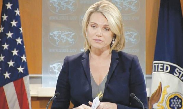 STATE Department spokesperson Heather Nauert says suspension will remain in effect until Pakistan 'takes decisive action' against groups such as Taliban that are 'destabilising the region and targeting US personnel'.