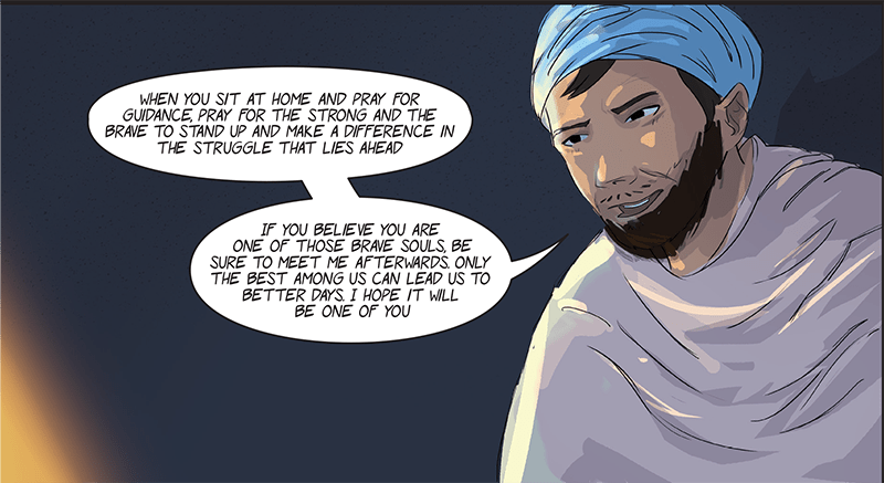 From the author's comic book series, Paasban — the Guardian.