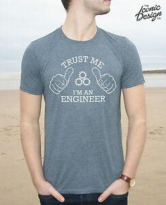 Trust Me I'm An Engineer T-shirt Top Funny Mens Gift Slogan Christmas Job   eBay
