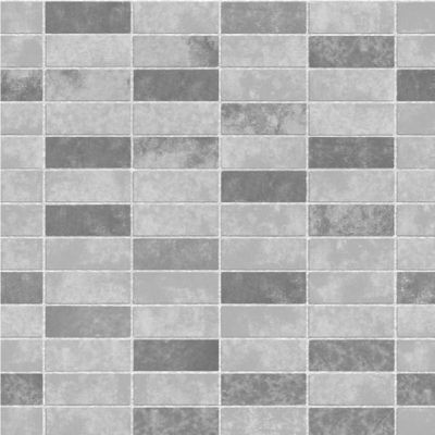 Fine Decor FD40117 Ceramica Grey Slate Tile Brick Effect Vinyl Wallpaper | eBay