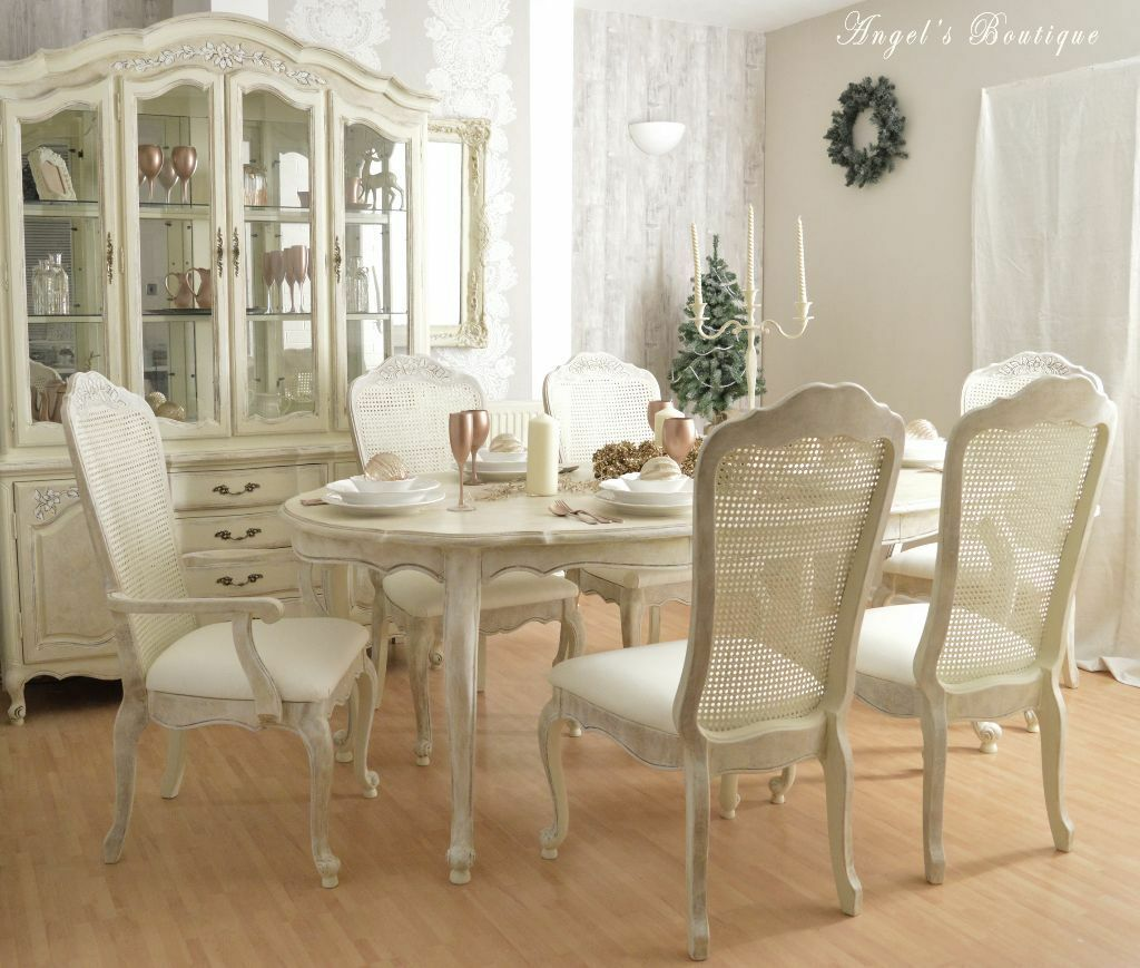 kitchen chairs for sale sold CHRISTMAS SALE Unique French Shabby Chic Dining Table and