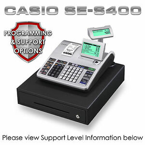 NEW CASIO SE-S400 CASH REGISTER Till + CHEAP PROGRAMMING & SUPPORT PACKAGES | eBay