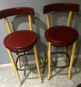 Image Is Loading FischelAstraBentwoodBarStoolsPairEarly1900s Thonet Bar Stool50