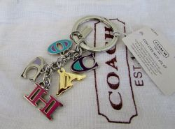 Double Coach Multi Mix Letters Key Chain Ring Gift Bag Nwt Key Rings Finders Womens Accessories Shoes Key Chain Rings Kmart Key Chain Rings Canada