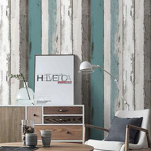Wood Contact Wall Panel Peel Stick Wallpaper Blue/Black/Off White Self Adhesive | eBay