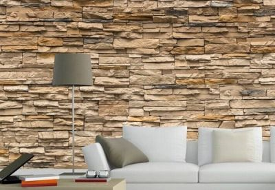 3D Wallpaper Bedroom Living Mural Roll Modern Faux Brick Stone Wall Background | eBay