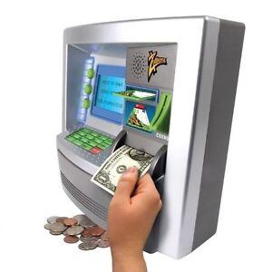 Money Safe With Slot For Kids Children ATM Bank Card Cash Deposit Savings Toy | eBay