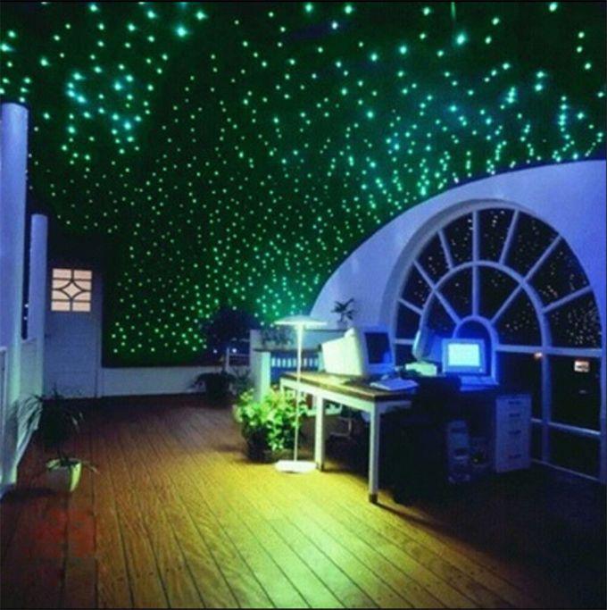200pcs Glow In The Dark Stars Moon Bedroom Home Wall Room Decor