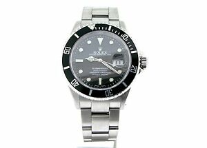Rolex Submariner Date Stainless Steel Watch SEL Sub w ...