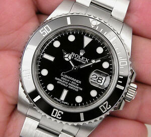 Rolex Submariner Date 116610 LN Mens Steel Black Ceramic Bezel 40MM | eBay