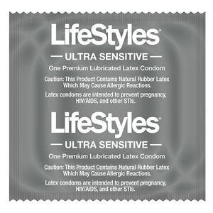 LIFESTYLES ULTRA SENSITIVE CONDOMS LATEX LUBRICATED CONDOM ...