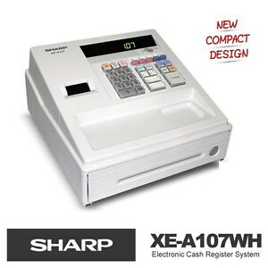 New SHARP XE-A107 White Electronic Cash Register supercede XE-A102 (1 Year Wrty) | eBay
