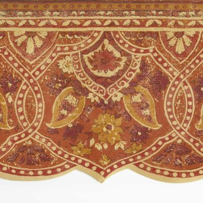 Victorian Archictectural Paisley Rust Orange Gold -ONLY$9 Wallpaper Border A073A | eBay
