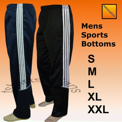 Mens Silky Casual Sports Tracksuit Jogging Bottoms ...
