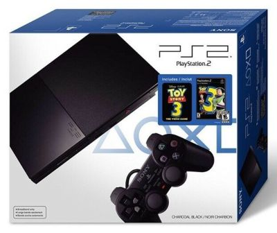 PlayStation 2 Console SLIM PS2 Complete Black BUNDLE Lot - TOY STORY 3 New Game! | eBay