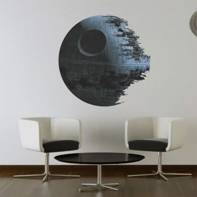 Death star ARTWORK Star Wars home decor Wall sticker Wallpaper wall decals Mural | eBay