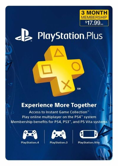Sony PlayStation PLUS 3 Month Gamecard PSN PS3 PS4 VITA*NEW* | eBay