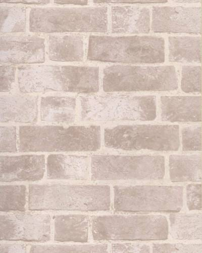 BRICK WALLPAPER Aged Off White Brick with Texture HE1045 | eBay