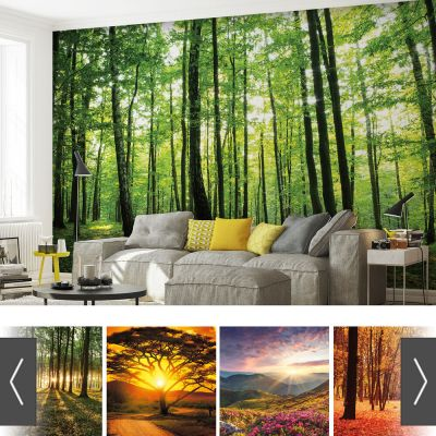 FORESTS NATURE FLOWERS PHOTO WALLPAPER MURAL | eBay