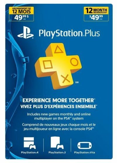 Playstation Plus 1 Year-12 Month Membership Canada, US Or Mexico PS4 PS3 or Vita | eBay
