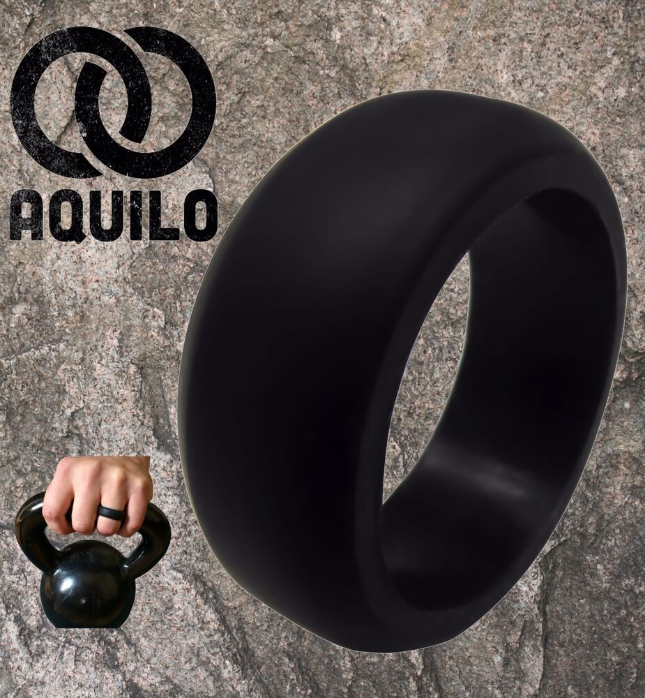 rubber mens wedding band AQUILO Silicone wedding Ring Band rubber ring Crossfit Best Flexible Durable eBay