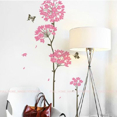8ink Dandelion Flower Butterfly Wall Stickers Wall Decals Mural Wallpaper Decor | eBay