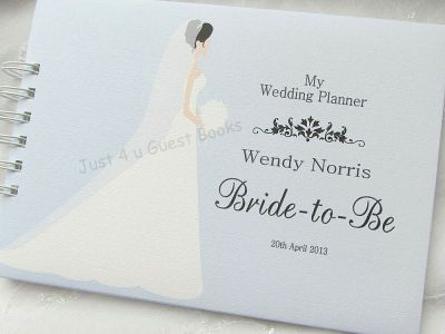 PERSONALISED WEDDING PLANNER* BRIDE-TO-BE JOURNAL NOTE ...