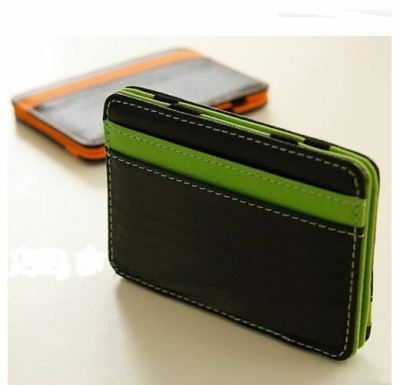 MEN MAGIC WALLET MONEY CLIP WALLET ID CASH HOLDER CREDIT CARD COVER CASE UK | eBay