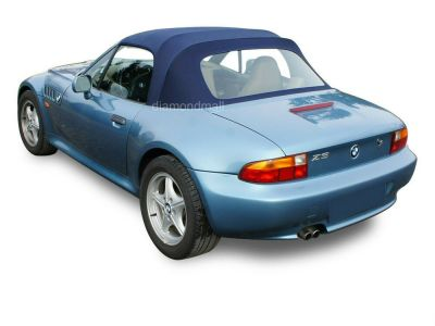 BMW Z3 1996-2002 Convertible Soft Top with Plastic Window Blue Stayfast Cloth | eBay