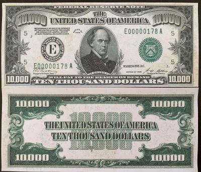 Reproduction United States 1928 $10,000 Bill Federal Reserve Note Copy USA   eBay