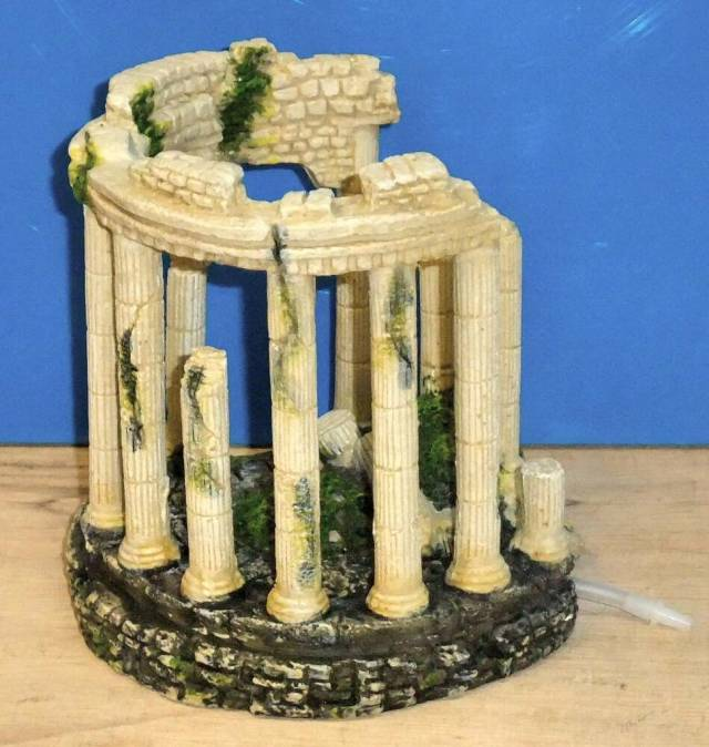 Ancient Ruins Roman Columns Ornament Air Bubbler Decoration Aquarium