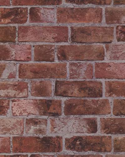 BRICK WALLPAPER Aged Red Brick with Texture HE1044 | eBay