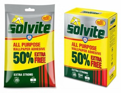 Solvite All Purpose Extra Strong Wallpaper Adhesive Quick Easy Mixing Glue Paste   eBay