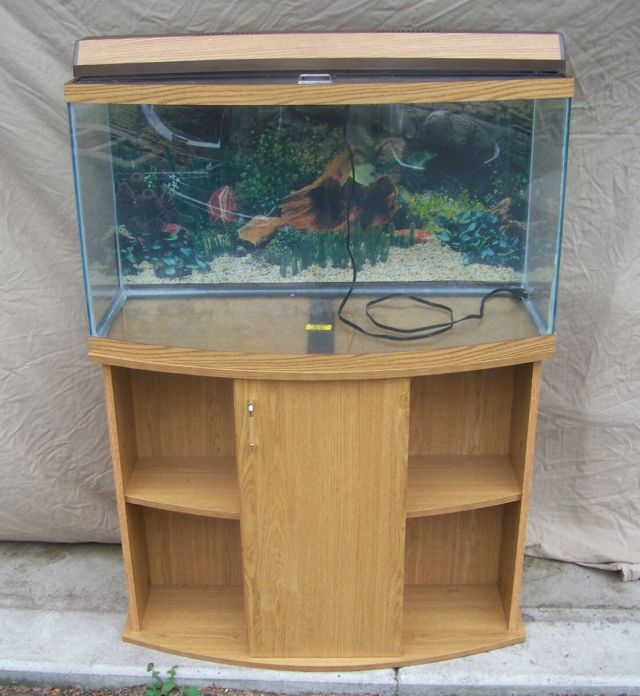 Fish tank stand bow front bowfront aquarium stands for 55 gallon corner fish tank