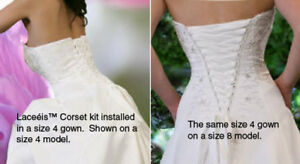 Wedding Prom Bridesmaid Gown Dress Corset Lace-up Back ...