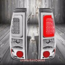 2001 gmc sierra 2500 tail lights   eBay Chrome Housing Clear Lens 3D LED Tail Light For Chevy GMC 99 03 Silverado  Sierra  Fits  2001 GMC Sierra 2500