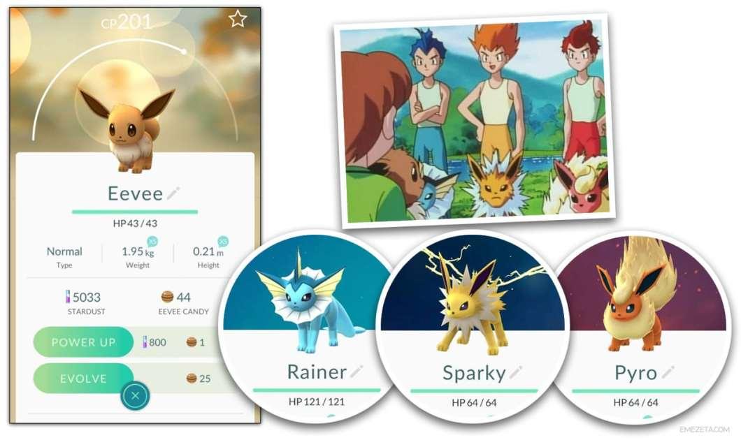 Pokémon Go: Truco para evolucionar a Eevee