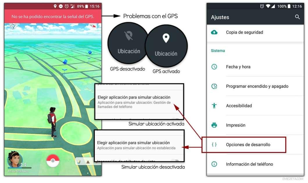 GPS en Pokémon Go